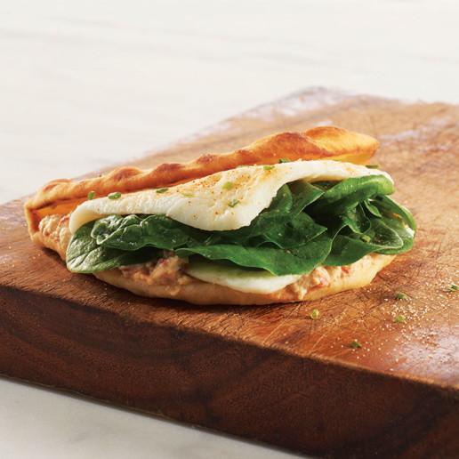 florentine egg white flatbread