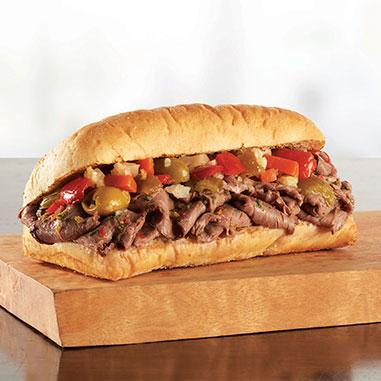 italian beef sandwhich
