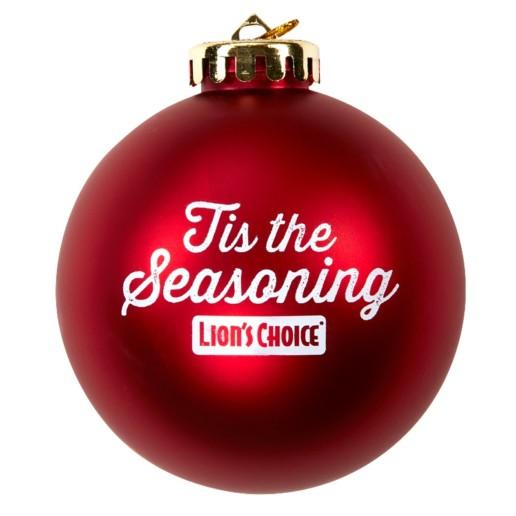 Tis the Seasoning Lions Choice ornament