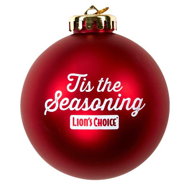 Tis the Seasoning Lions Choice ornament