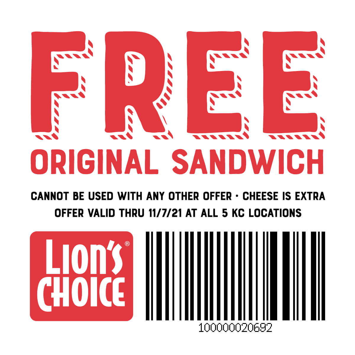 Free Original Sandwich
